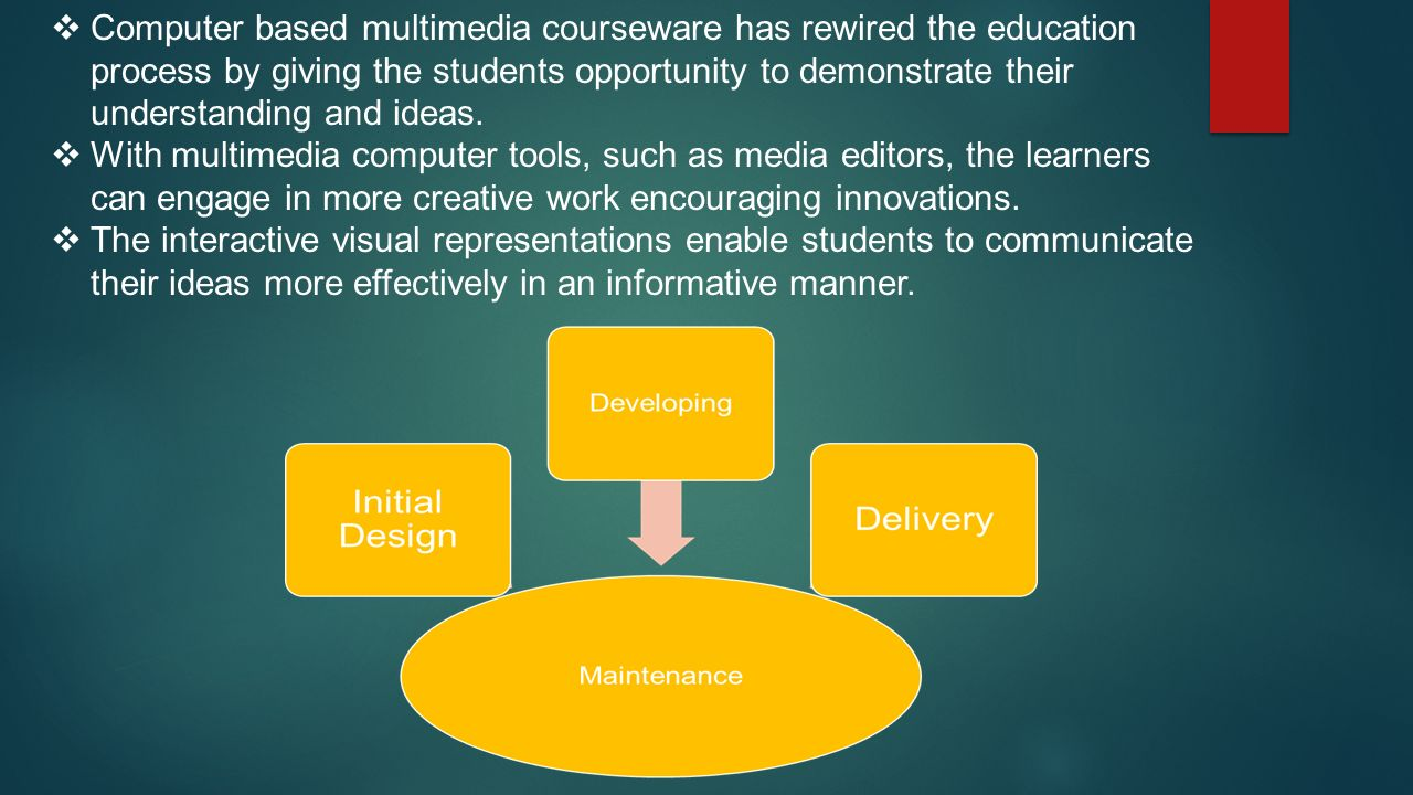  The multimedia education tool shall provide an environment for collaboration among the intended users, both learners and educators.