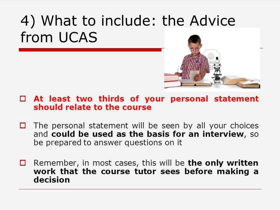 University application personal statement