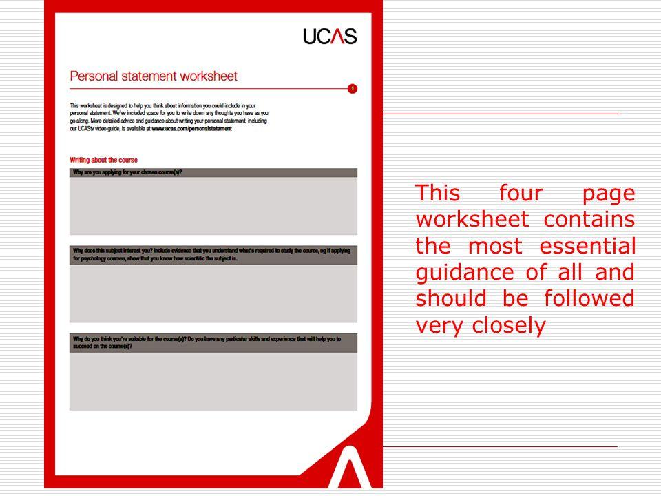 ucas personal statement help sheet