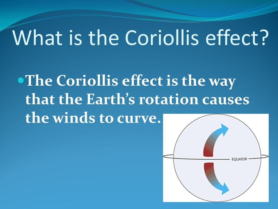 What is the Coriollis effect.