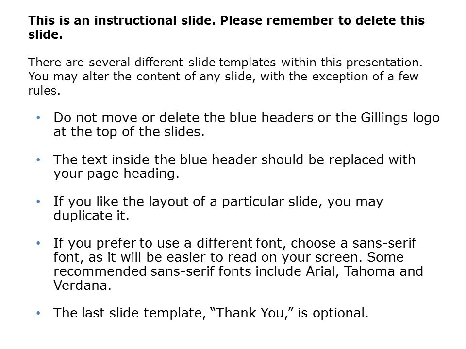 This is an instructional slide. Please remember to delete this slide.