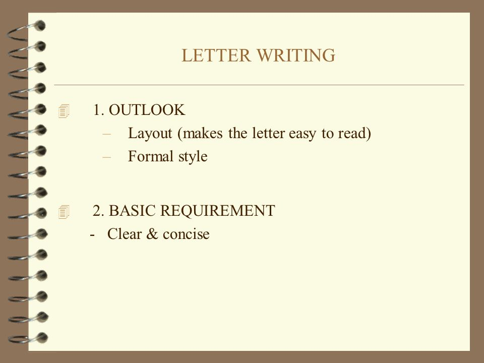 Letter writing 4 1 outlook layout makes the letter easy to read 1 letter thecheapjerseys Choice Image