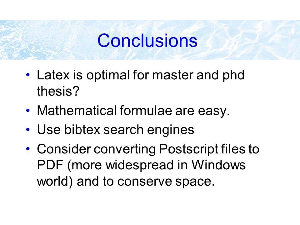 Latex bibtex phd thesis