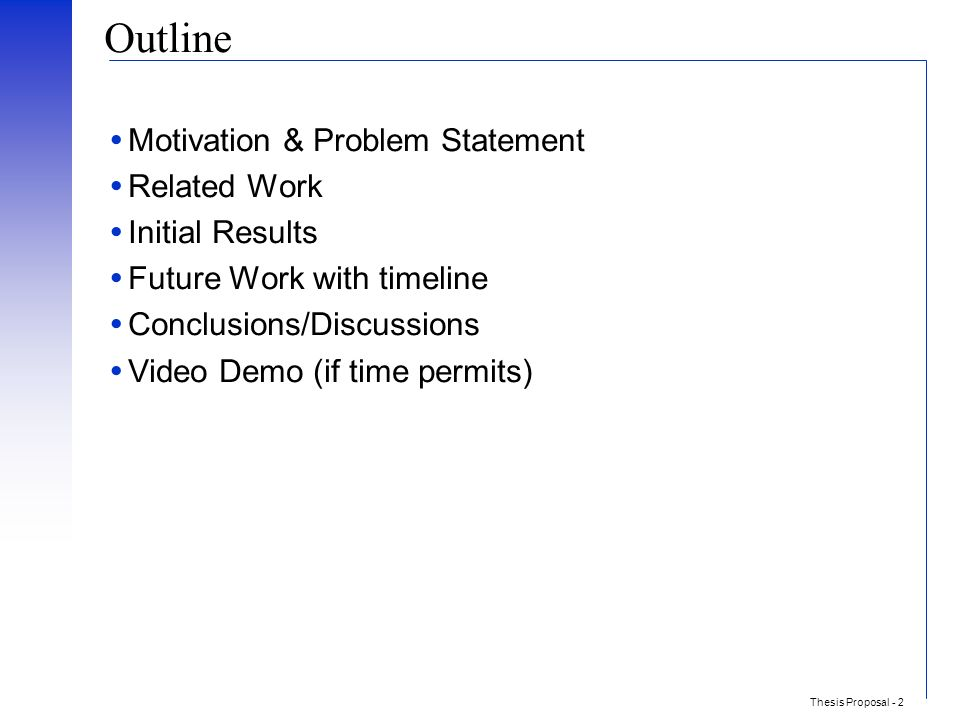 motivation section in thesis