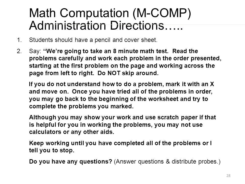 Enchanting 1 Minute Math Test Gift - Math Worksheets - modopol.com