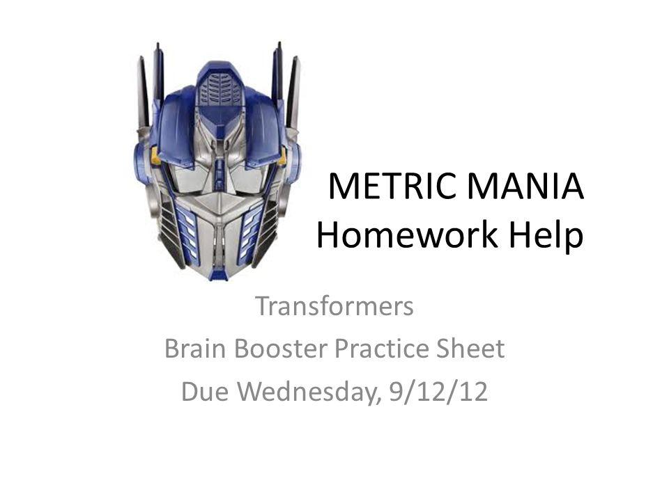 Metric conversion homework help – Metric Mania Worksheet