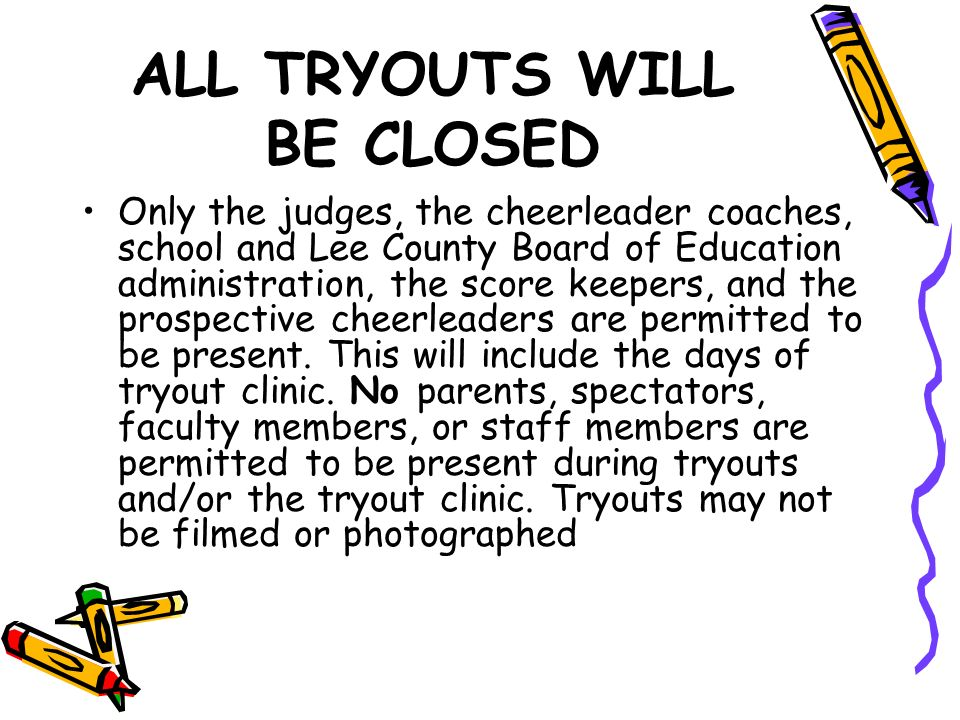 Cheerleader Constitution And Tryout Information Purpose Of