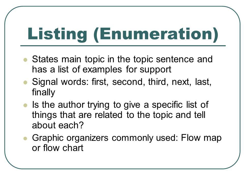 Enumeration Essay