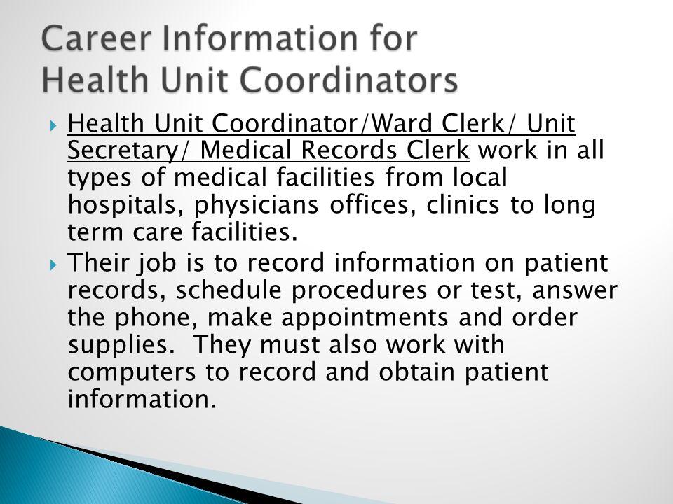 Mrs V Kirkley RN MEd Medical Records Technicians work in – Medical Record Clerk Job Description