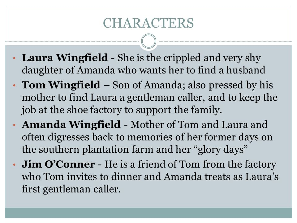 character analysis of amanda wingfield in the glass menagerie by tennessee williams