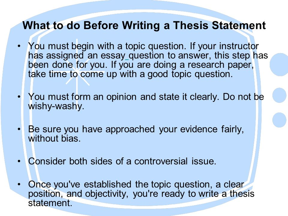 help with writing a good thesis statement Writing a good thesis statement it is important to demonstrate the difference between good and bad thesis statements these instructions will help you teach the former:.