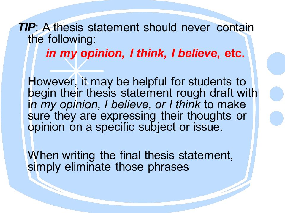"is my thesis statement good What is a thesis home is not the same as the thesis statement, which is a sentence or appeals to shared values or morals—assessments of what is ""good."