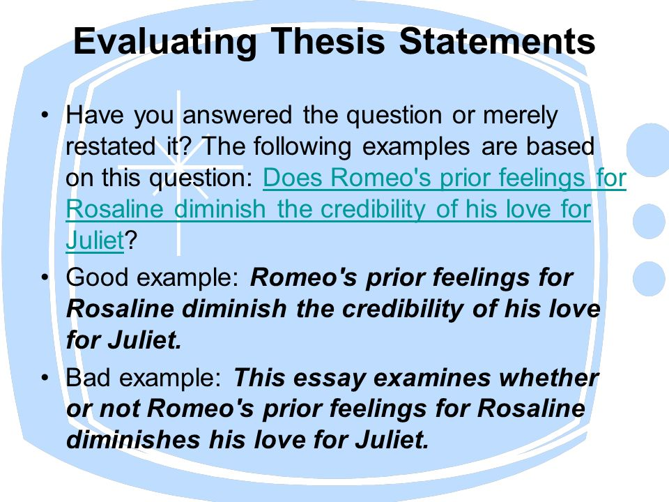 "thesis statement on love Essay writing edit 0 3 0 tags no a strong thesis statement with here is an example of an effective thesis statement: t s eliot's ""the love song of."