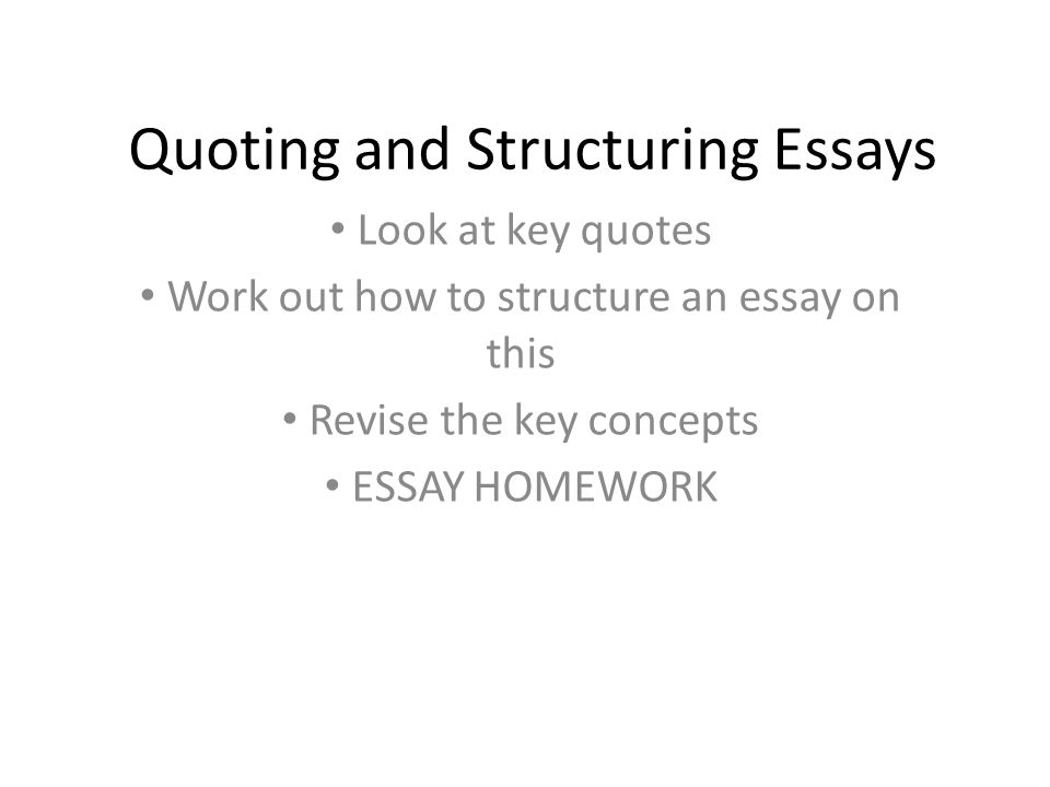 structure of an essay writing