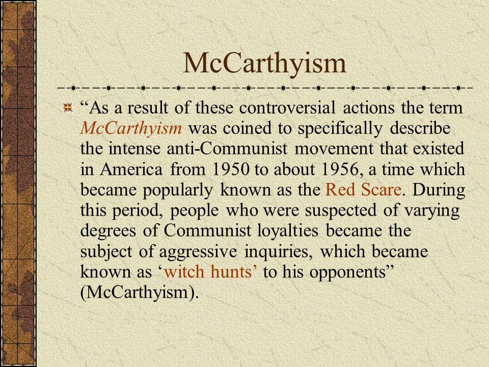 How is the crucible synonymous with the mccarthy hearing?