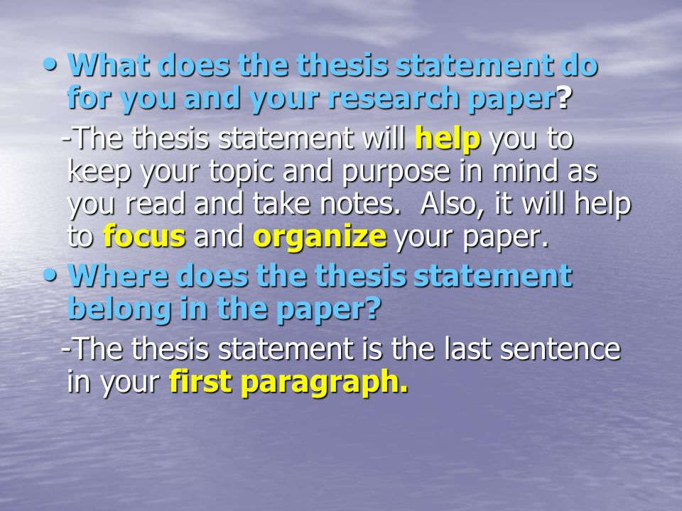 research paper thesis structure You need to study the main parts of any thesis thesis structure: 5 common mistakes to of your paper it requires a great amount of research and if not.