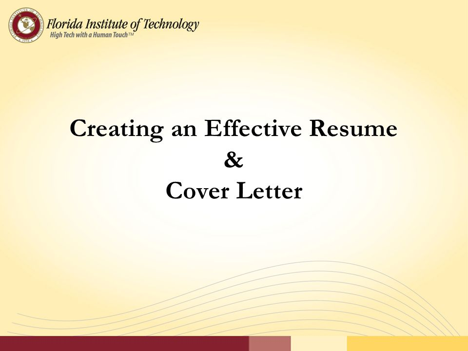 1 creating an effective resume cover letter - Format To Write Resume