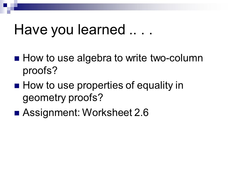 algebra writing assignment