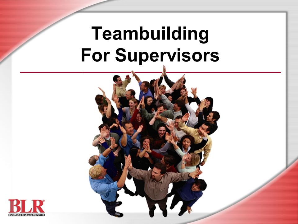 Teambuilding For Supervisors