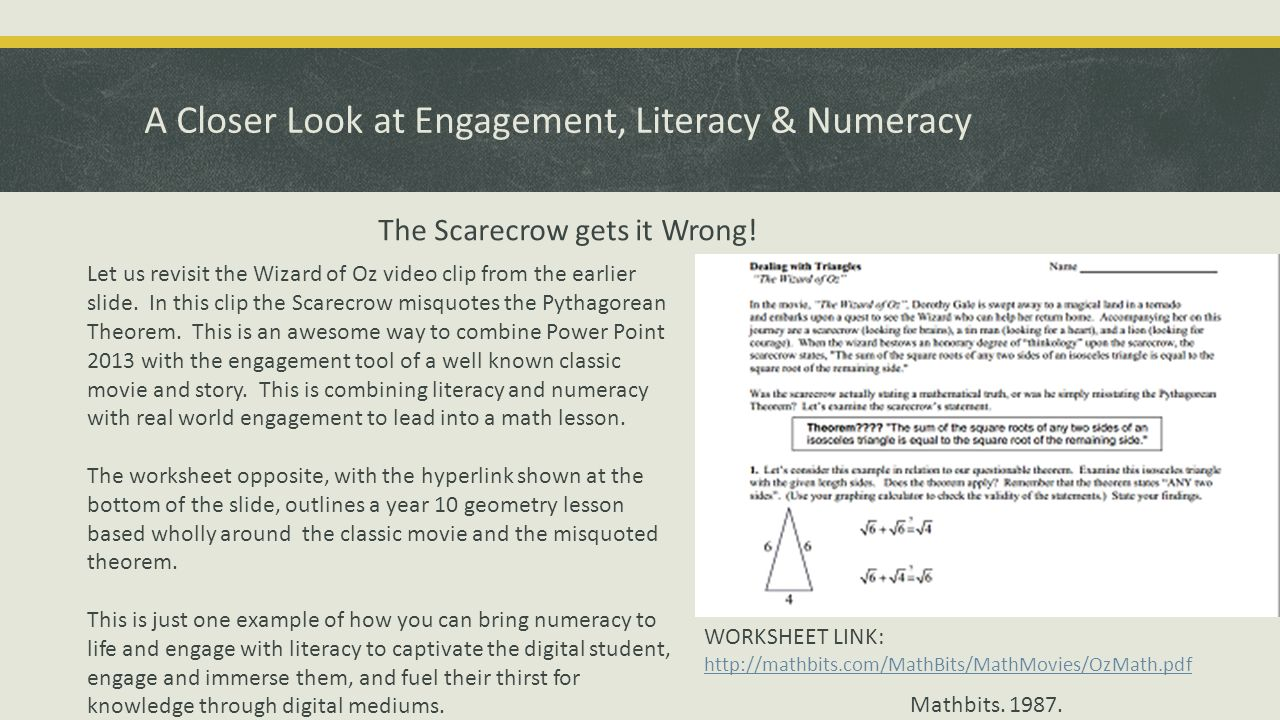 scarecrows pythagorean theorem essay This worksheet is a fun way for students to practice using the pythagorean theorem students solve problems to reveal the answer to the riddle at the top of the.