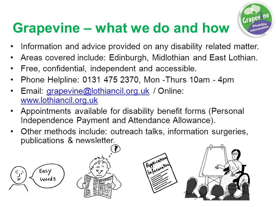Grapevine  What We Do And How Information And Advice Provided On
