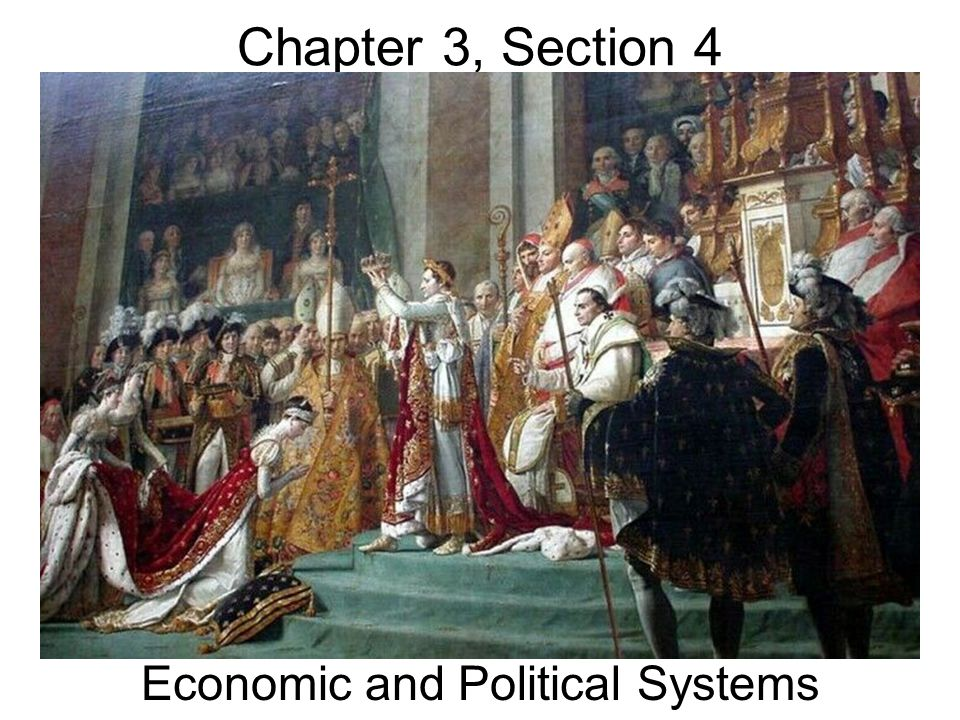 Chapter 3, Section 4 Economic and Political Systems