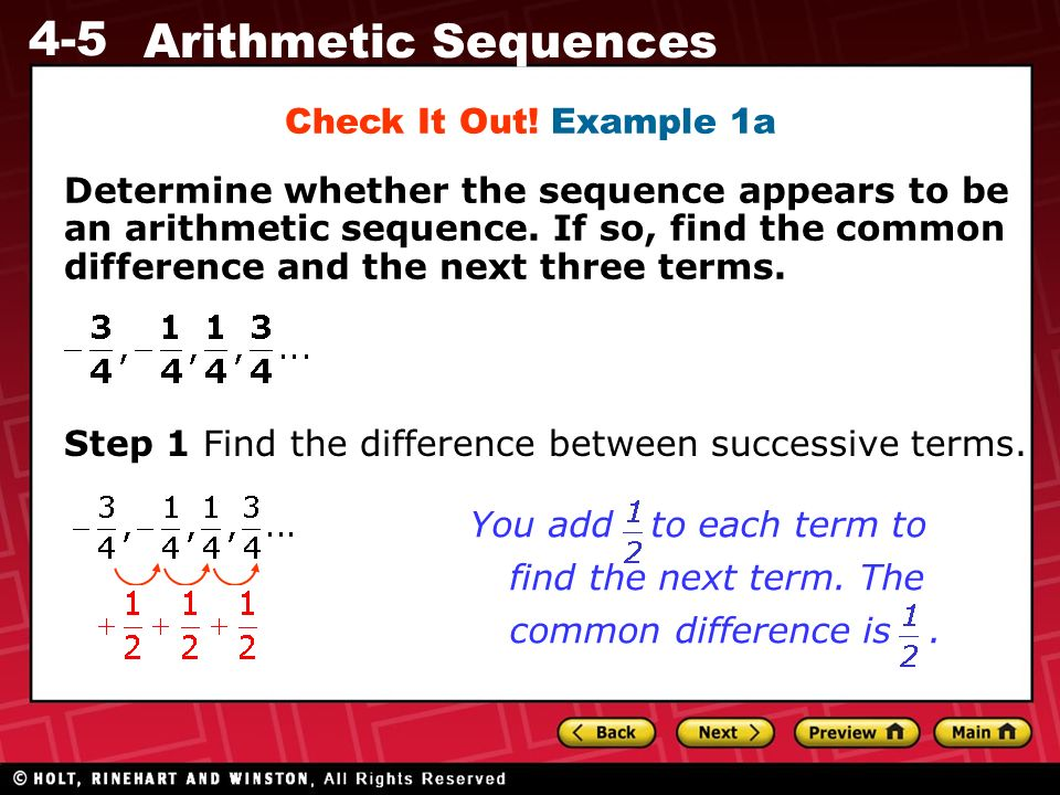 4-5 Arithmetic Sequences Warm Up Warm Up Lesson Presentation