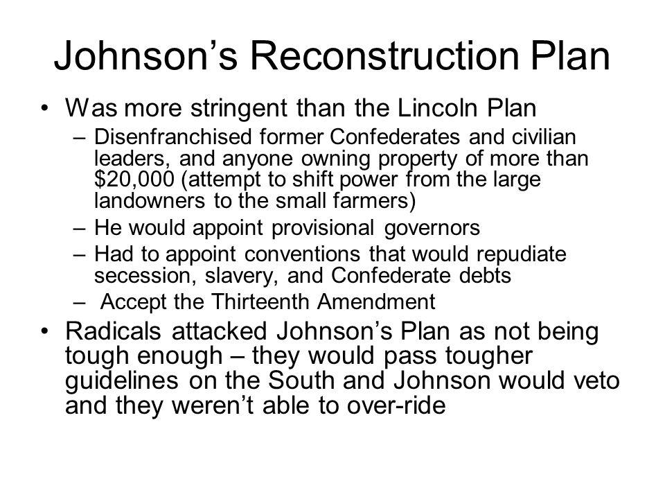 three plans for reconstruction essay