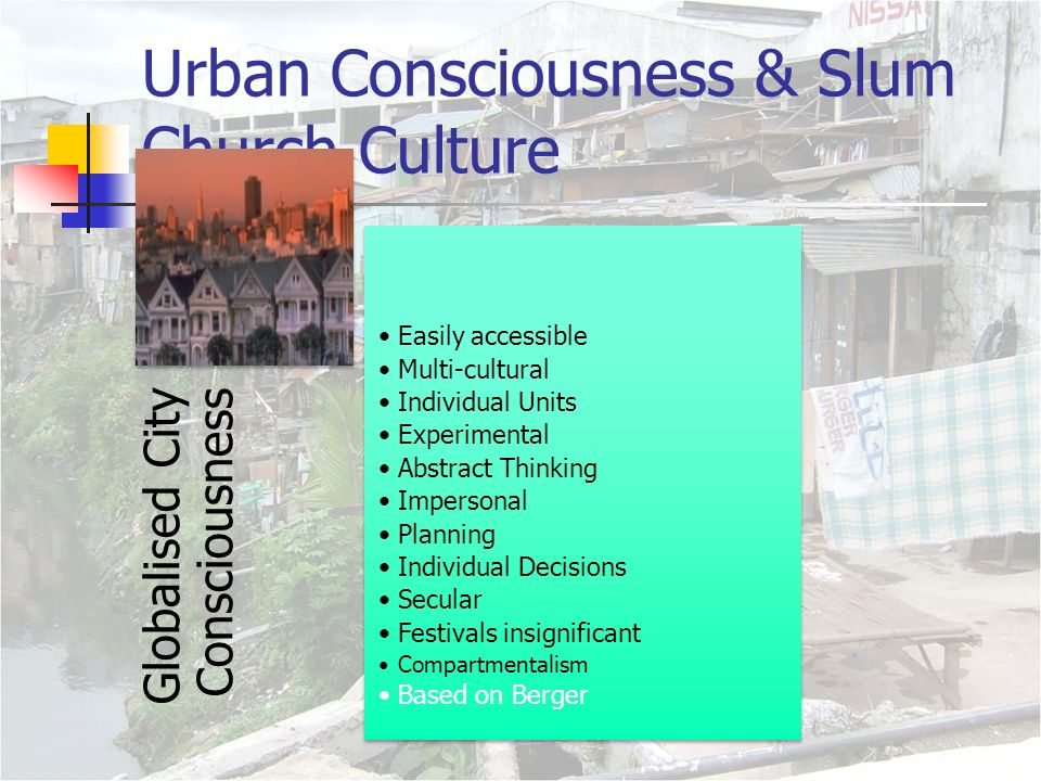 urban poor spirituality the urban poor church the culture of  4 urban consciousness