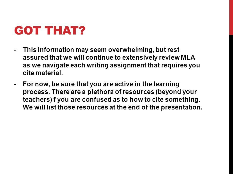 Question on MLA citations?