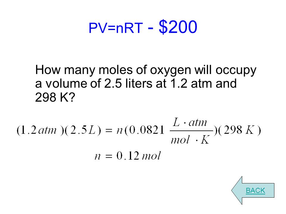 Ideal Gas Law Worksheet Answers With Work - Worksheets