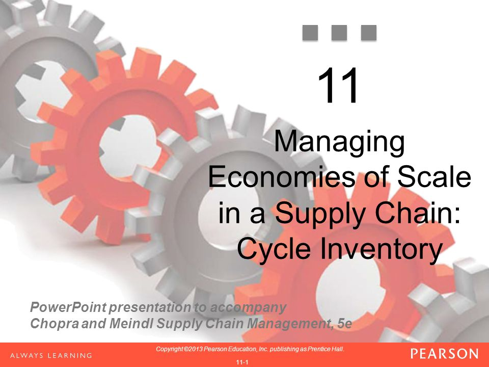 PowerPoint presentation to accompany Chopra and Meindl Supply Chain Management, 5e 1-1 Copyright ©2013 Pearson Education, Inc.