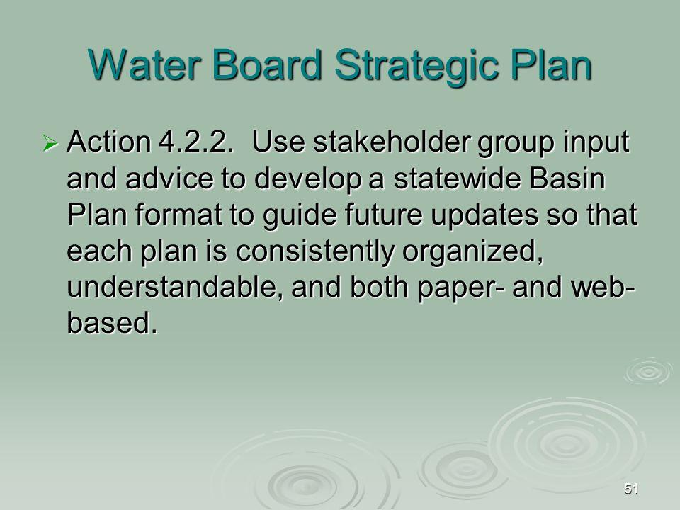 51 Water Board Strategic Plan  Action 4.2.2.