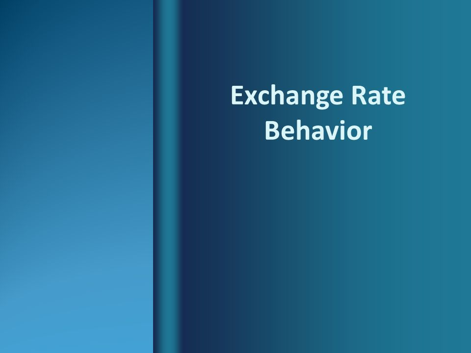 Determinants of exchange rates