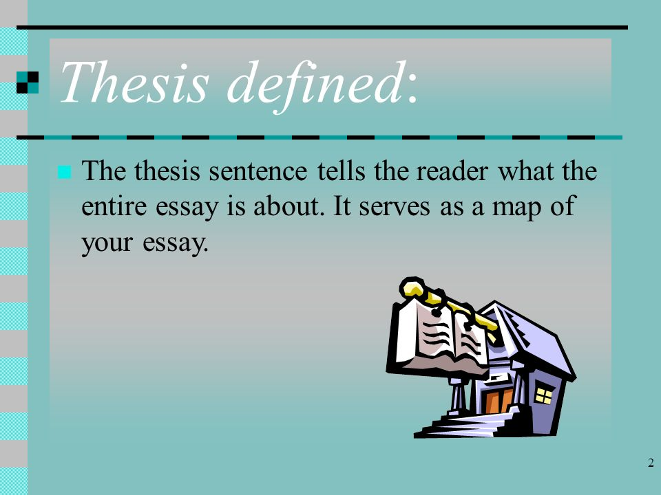 good examples of thesis