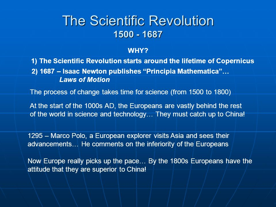 Changing Understandings Of The Universe Scientific Revolution A