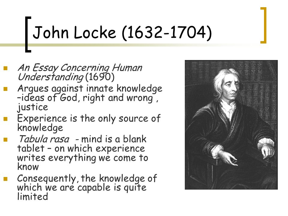 read an essay concerning human understanding Source: a foreword to an essay concerning human understanding, by john locke, edited by peter h nidditch, oxford at the clarendon press, 1975, pp vii-xxv [in the.