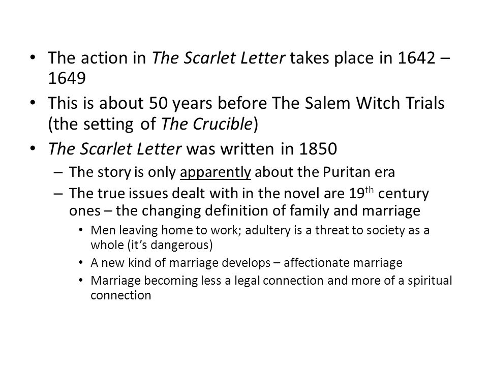 the narratives of the salem witch hysteria in the crucible and the scarlet letter Mass hysteria and other themes related to the crucible: fiction the scarlet letter the events of the salem witch trials as a historical narrative.