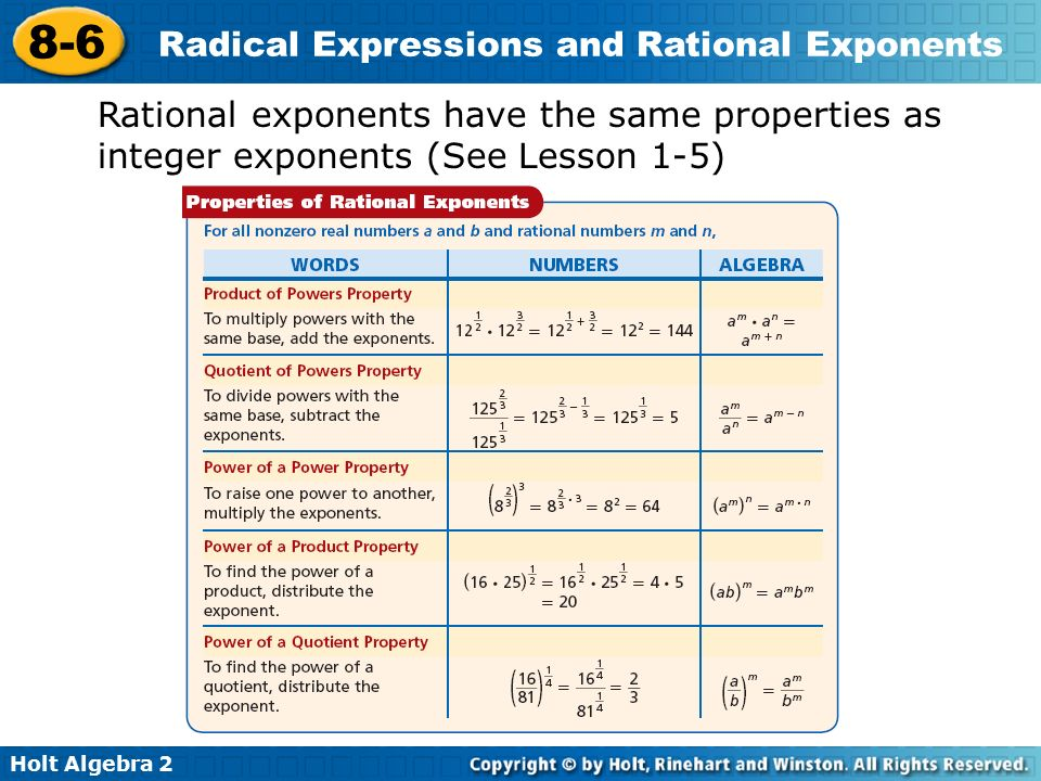 Properties Of Radicals And Rational Exponents Worksheets The – Radicals and Rational Exponents Worksheet