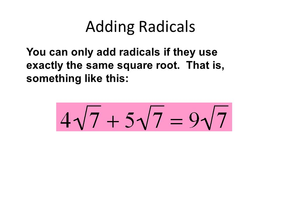 The problem with this country is all the unsimplified radicals ...
