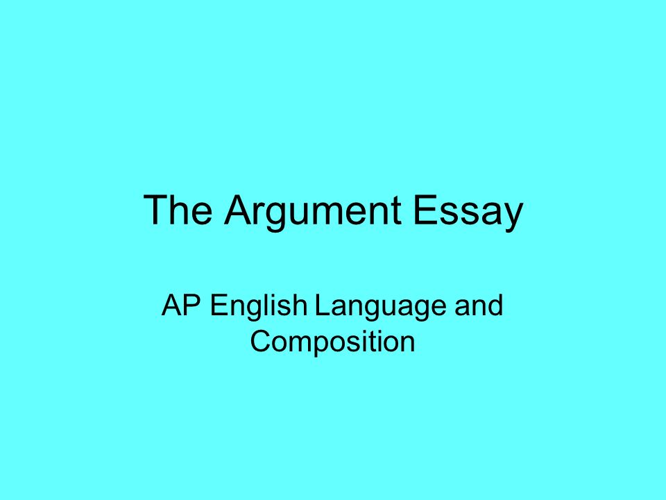 argument in english composition