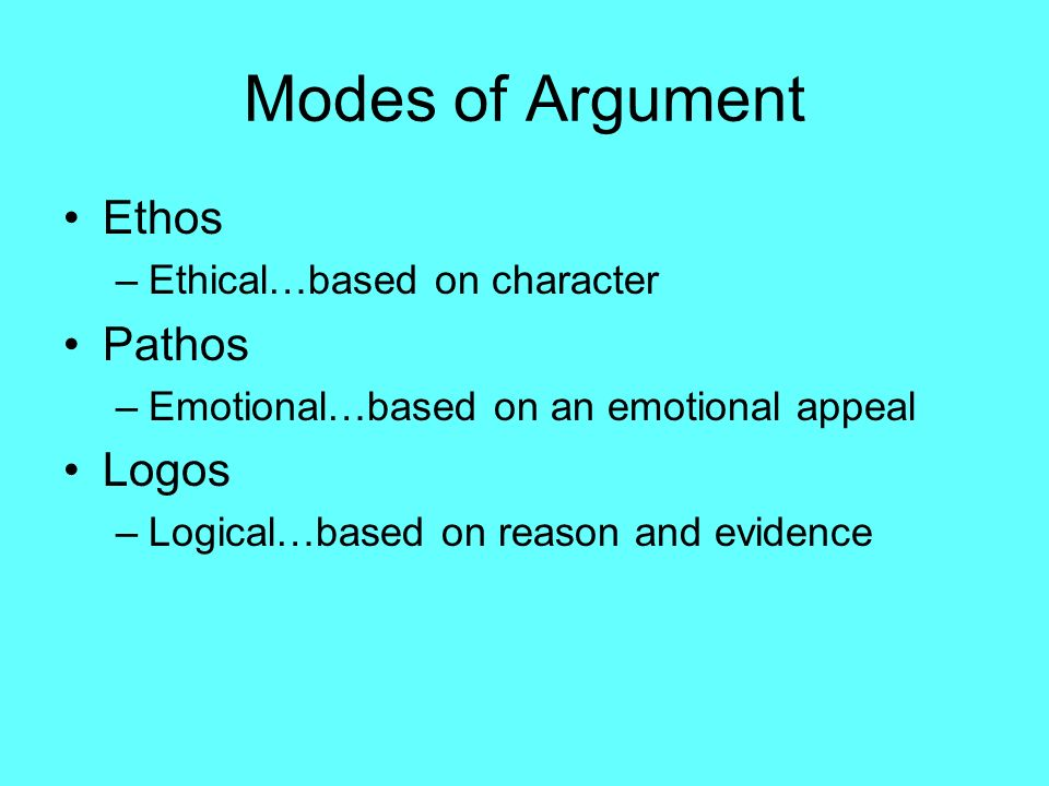 critical thinking argument structure