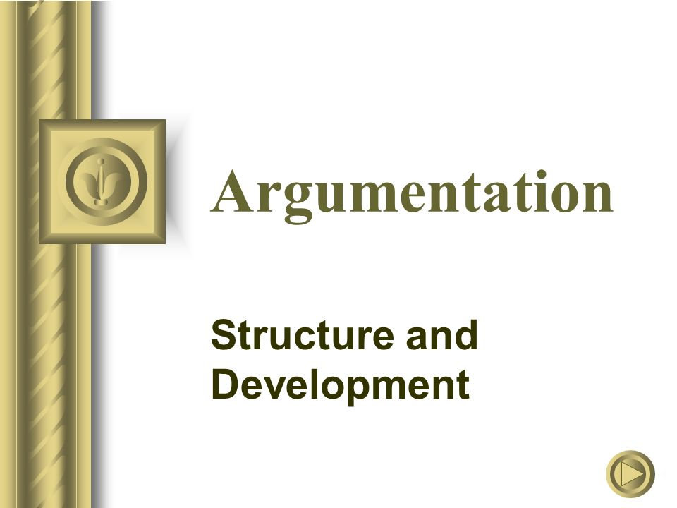 Argumentation Structure and Development