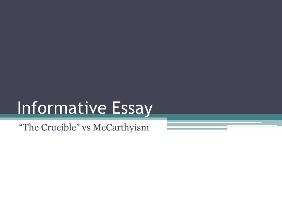 How do i write a research paper comparing McCarthyism and The Crucible?due THIS FRIDAY!!!?