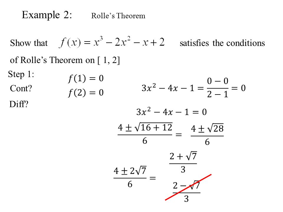 Rolle's and The Mean Value Theorem BC Calculus. Mean Value and ...