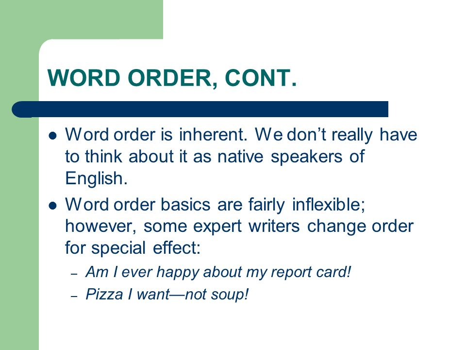 Introduction to syntax honors english task 1 neatly and clearly 16 word order ccuart Image collections