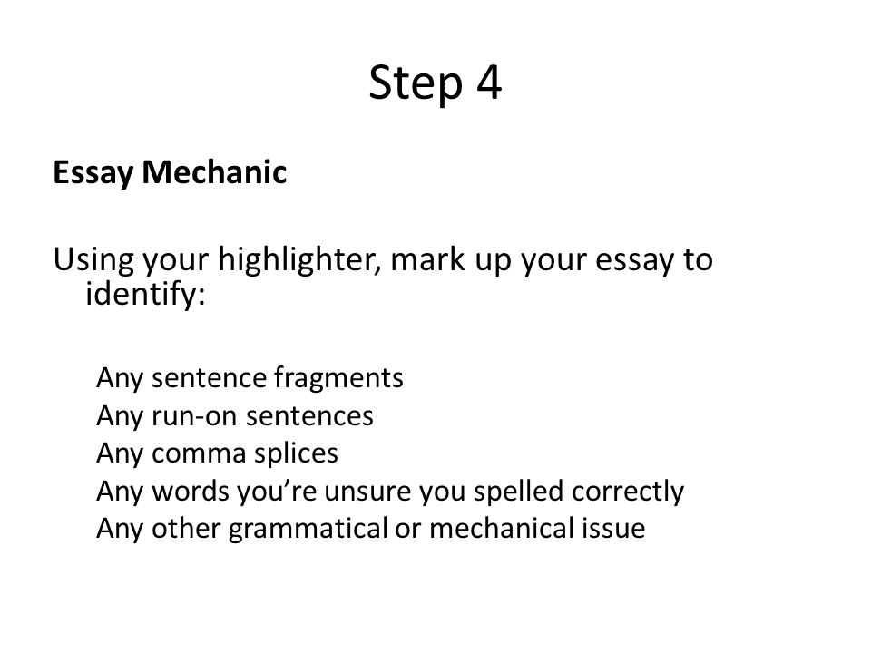 this i believe essay check check off the following in your essay  6 step