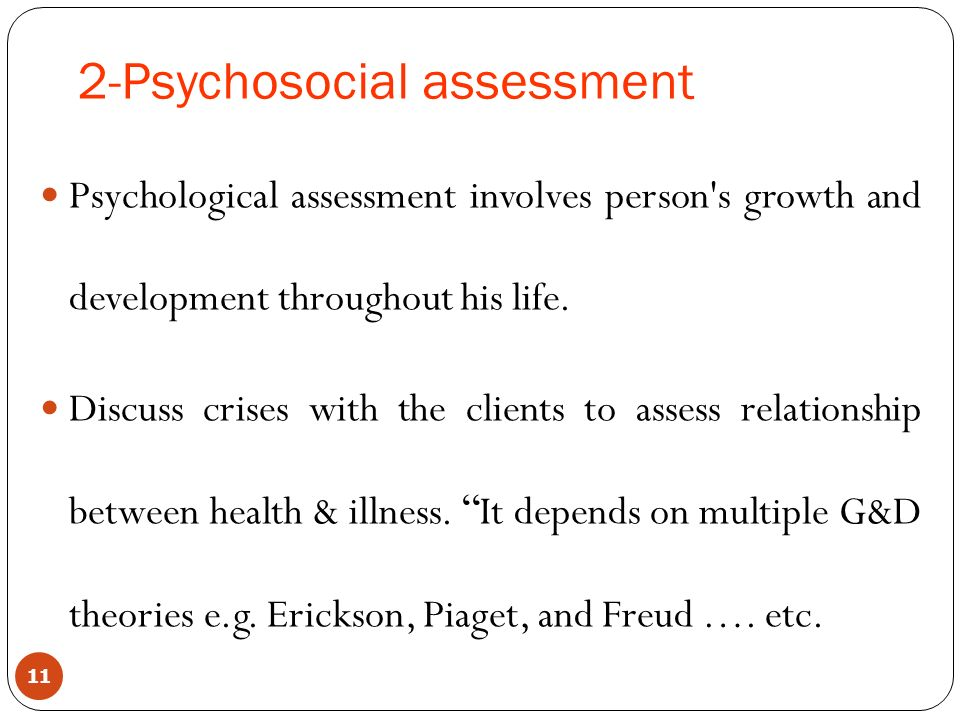 Psychosocial Assessment Psychosocial Assessment And Treatment Of