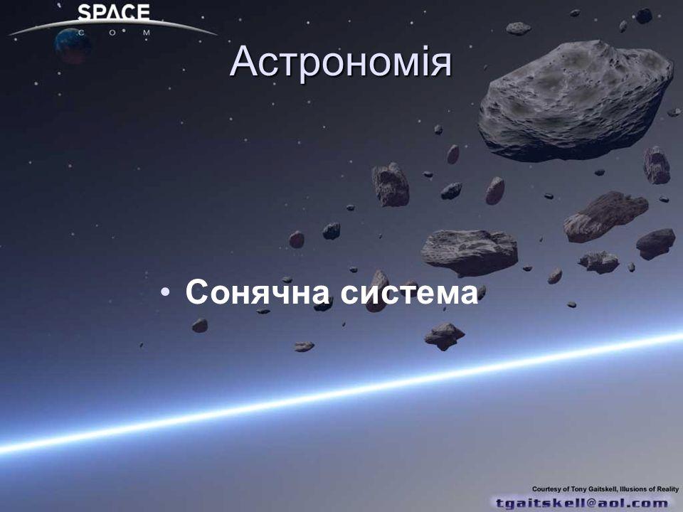 Астрономія Сонячна система