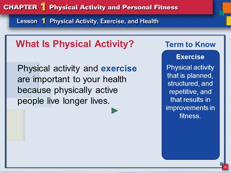 explain why physical activity is important to the short and long term health and well being of child Mood, stamina and more with regular physical activity being active boosts high-density lipoprotein boost your long-term health with these exercises.